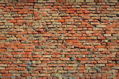 gammal vägg för tegelstenar Royaltyfria Foton