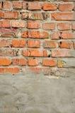 gammal vägg för tegelstendetalj royaltyfri bild
