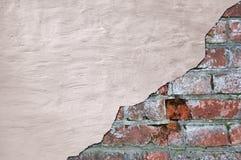 gammal vägg för tegelstengrunge Arkivbilder