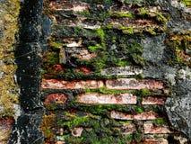 Gammal vägg i gammal stad Arkivbild