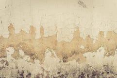Gammal vägg med sprickabakgrund royaltyfri fotografi