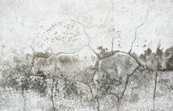 Gammal vägg med sprickabakgrund Arkivbild