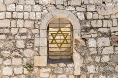 Gammal vägg på Mount Zion i Jerusalem Fotografering för Bildbyråer