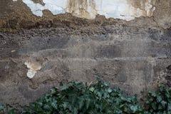 Gammal vägg som göras av verklig gyttja royaltyfria bilder