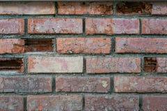 Gammal vägg som göras från tegelsten Royaltyfria Foton