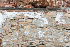 Gammal väggkonsol för röd tegelsten för bakgrund Royaltyfri Bild