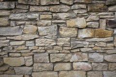 Gammal väggtextur för sten Gammalt vagga kvarter i gammal medeltida tegelsten Royaltyfri Bild