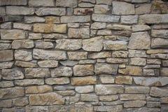 Gammal väggtextur för sten Gammalt vagga kvarter i gammal medeltida tegelsten Arkivfoton