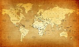 gammal värld för översikt royaltyfri illustrationer