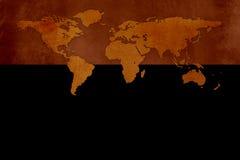 Gammal världskarta Royaltyfri Illustrationer