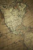 Gammal världskarta - Nordamerika royaltyfria bilder