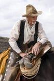 gammal västra roper för cowboy tidmätare royaltyfri fotografi