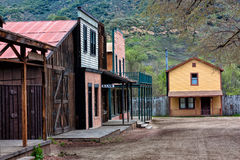 Gammal västra Town Arkivfoto