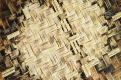Gammal vävbambubakgrund Royaltyfri Foto