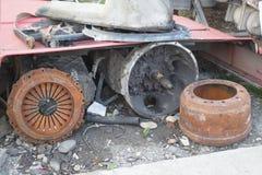 Gammal växellåda av en lastbil Gammal överföringsöverföring av en lastbil eller en buss Royaltyfria Bilder
