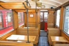 gammal vagn för kabin Arkivbild