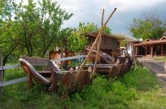 gammal vagnshäst Arkivfoton