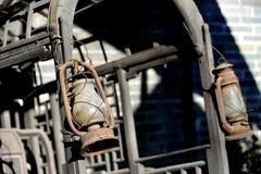 gammal vagnslampa Royaltyfri Bild
