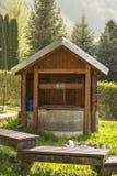 Gammal vattenbrunn Arkivbilder