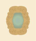 gammal vektor för spegel Royaltyfri Fotografi