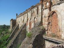 gammal vägg för fästning Arkivfoto
