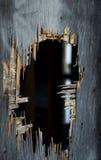 gammal vägg för hål Royaltyfri Fotografi