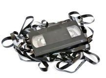 Gammal vhs-videokassett Arkivbild