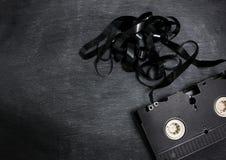 Gammal vhs-videokassett Royaltyfri Bild