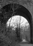 Gammal viaduktbåge royaltyfria bilder