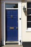 gammal victorian för blått dörrhus Fotografering för Bildbyråer