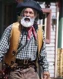 Gammal vilda västerncowboy Sheriff royaltyfri foto