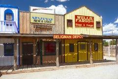 Gammal vilda västerndiversehandel, gammal amerikansk västra stad royaltyfri fotografi