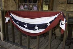Gammal vilda västernstadpatriotism arkivbilder