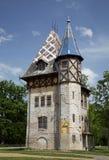 Gammal villa i Palic, Subotica, Serbien Royaltyfria Bilder