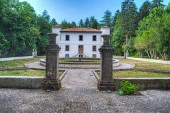 Gammal villa som byggs i sena 1800s i Sardinia Arkivfoto
