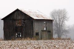 gammal vinter för ladugård Royaltyfri Fotografi