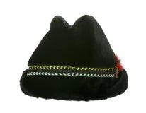 gammal vinter för svart furry hatt fotografering för bildbyråer