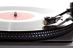 gammal vinyl för phonographspelareregister Royaltyfri Bild