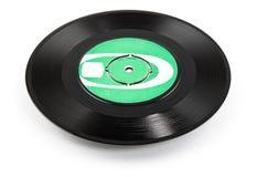 Gammal vinylregisterellips - clippingbana Arkivbilder