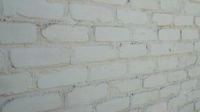 Gammal vit bakgrund för textur för tegelstenvägg arkivfilmer