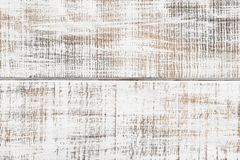 Gammal vit målad träplankabakgrund arkivfoto