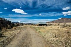 Gammal västra ranch i Nevada Royaltyfri Foto