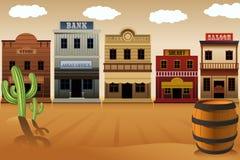 Gammal västra stad Arkivbild