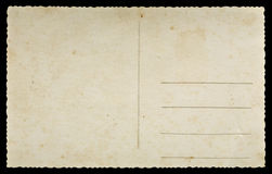 gammal vykort royaltyfri bild