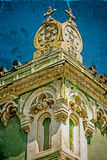 Gammal vykort av en historisk byggnad Timisoara Rumänien 20 Fotografering för Bildbyråer