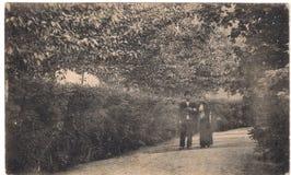 Gammal vykort mellan 1905-1920 Mineralvattenar Ryssland Arkivbilder