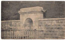 Gammal vykort mellan 1905-1920 Mineralvattenar Ryssland Royaltyfria Bilder