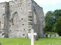 Gammal walesisk sten Abby Royaltyfria Bilder