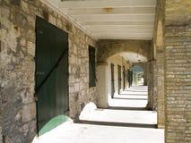 gammal walkway för tegelsten Royaltyfri Fotografi