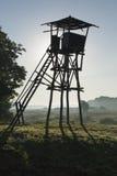 Gammal watchtower i räknareljus Fotografering för Bildbyråer